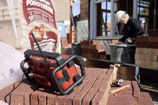PerfectPro Workman 2 FM Bouwradio AUX, FM Spatwaterbestendig, Stofdicht, Stofvast Rood, Zwart