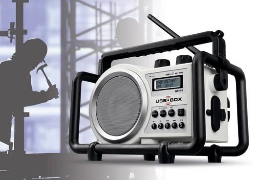 FM Bouwradio PerfectPro USB Box bouwplaatsradio AUX, SD, FM, USB Spatwaterbestendig, Stofdicht, Stofvast Wit
