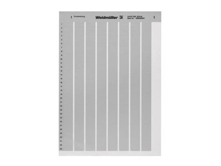 Labelprinter Montagemethode: Plakken Markeringsvlak: 56 x 22 mm Zilver Weidmüller LM MT300 56X22 SI 1686420001 Aantal markeringen: 360 10 stuks