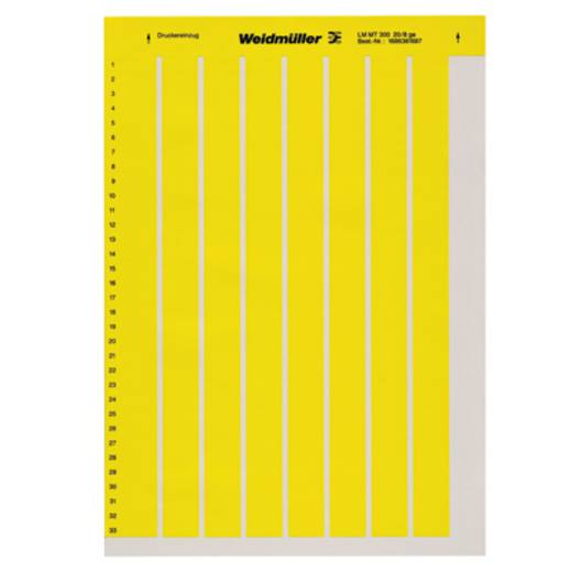 Labelprinter Montagemethode: Plakken Markeringsvlak: 202 x 12 mm Geel Weidmüller LM MT300 202X12 GE 1915320000 Aantal m