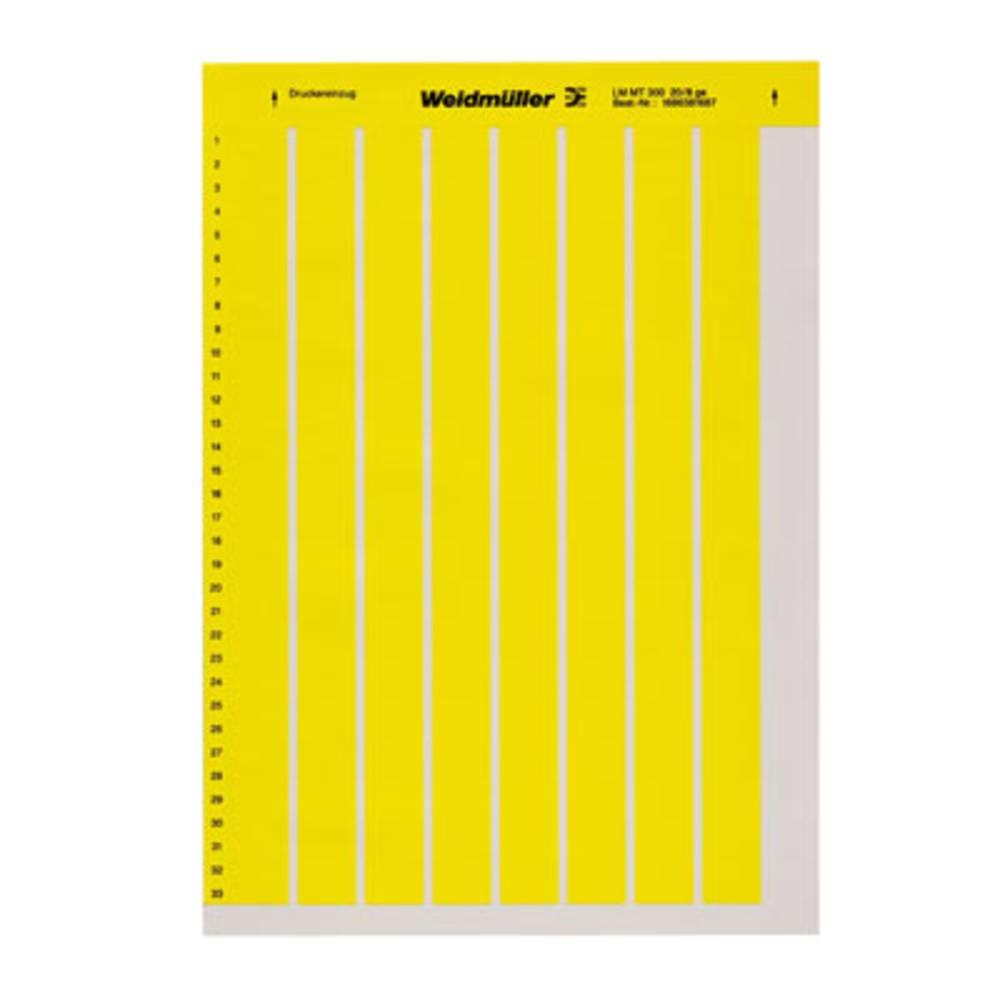 Weidmüller 1686381687-10 LM MT300 20X8 GE Märkningsystem skrivare Monteringsmetod: Limning Utskriftsområde: 9 x 20 mm Gul Antal märkningar: 2640 10 st