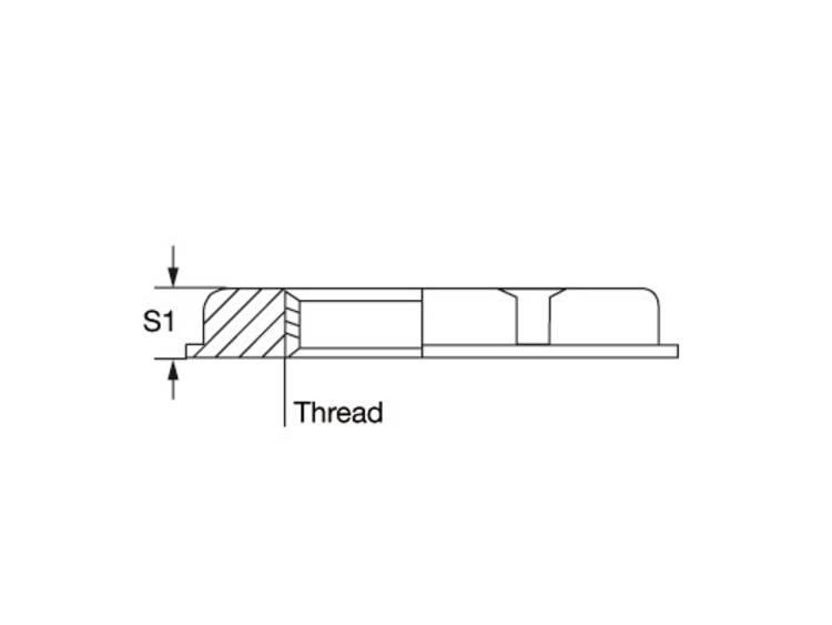 Weidmüller SKMU M12 - K GR Contramoer M12 Polyamide Grijs 100 stuk(s)
