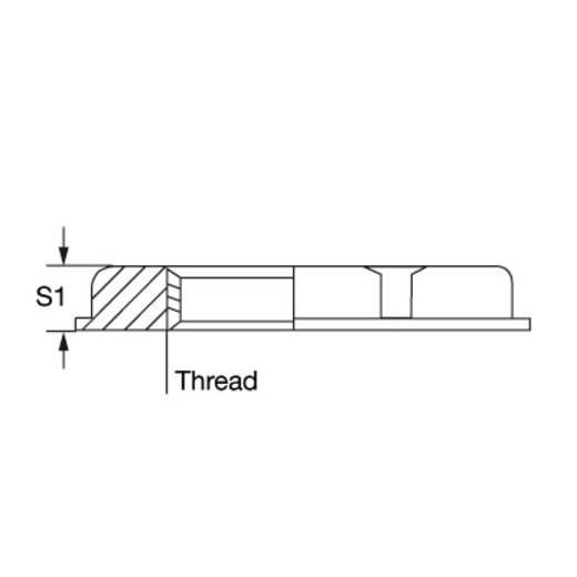 Contramoer M25 Messing Messing Weidmüller SKMU M25 - K GR 100 stuks