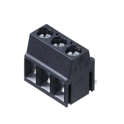 Klemschroefblok 2.50 mm² Aantal polen 3 LM 5.00/03/180 3.5SN BK BX Weidmüller Zwart 500 stuks