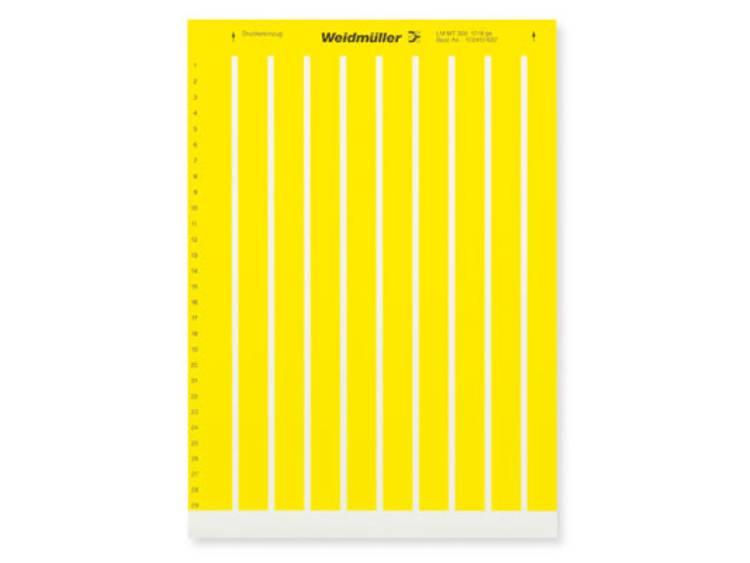 Labelprinter Montagemethode: Plakken Markeringsvlak: 17 x 9 mm Geel Weidmüller LM MT300 17X9 GE 1724151687 Aantal markeringen: 3410 10 stuks