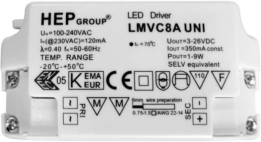 DD-20710 LED-inbouwlamp 9 W Warm-wit Wit