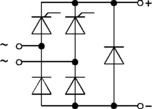 Bruggelijkrichter Semikron SKCH40/16 Soort behuizing G19 Nominale stroom - U(RRM) 1600 V