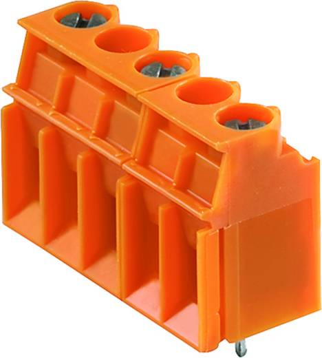 Klemschroefblok 4.00 mm² Aantal polen 4 LP 10.16/04/90 3.2SN OR BX Weidmüller Oranje 50 stuks