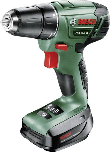 Accuboormachine Bosch Home and Garden PSR 14 incl. accu, incl. accessoires, incl. koffer 14.4 V 1.5 Ah Li-ion