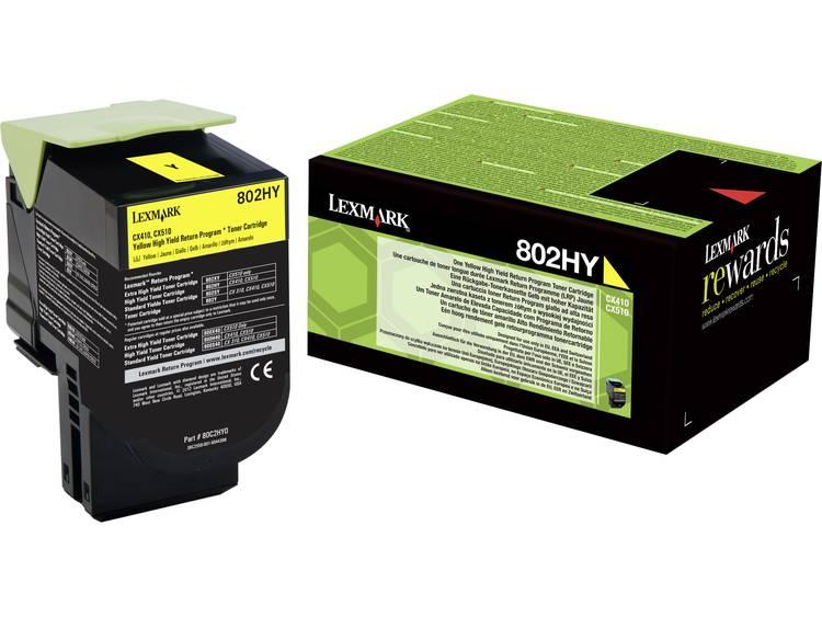 Lexmark Tonercassette 802HY 80C2HY0 Origineel Geel 3000 bladzijden