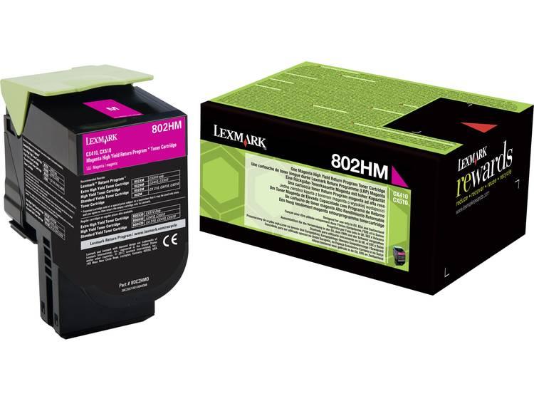 Lexmark Tonercassette 802HM 80C2HM0 Origineel Magenta 3000 bladzijden
