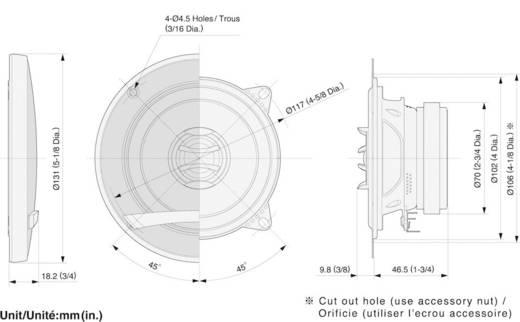 Pioneer TSE1002i 2-weg coaxiale inbouwluidspreker 110 W 1 paar