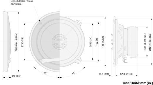 Pioneer TS-E1302i 2-weg coaxiale inbouwluidspreker 180 W 1 paar