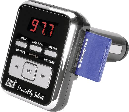 dnt MusicFly SELECT FM transmitter Met afstandsbediening