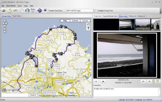 GT-750 GPS logger Zwart