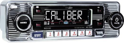 Caliber Audio Technology RCD-110 Chrom Autoradio enkel DIN 4 x 75 W USB, SD, Jackplug