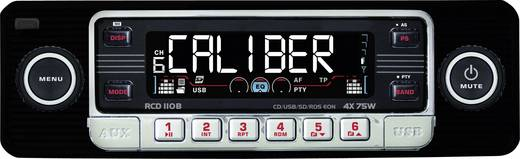 Caliber Audio Technology RCD-110 Schwarz Autoradio enkel DIN 4 x 75 W USB, SD, Jackplug