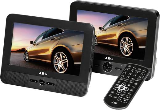 AEG DVD4551LCD Hoofdsteun-DVD-speler met 2 monitoren