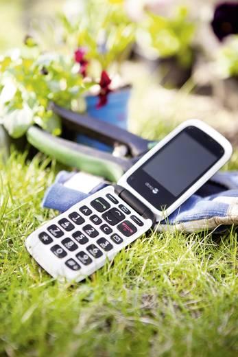 doro PhoneEasy 612 Senioren clamshell telefoon Laadstation Zwart, Wit