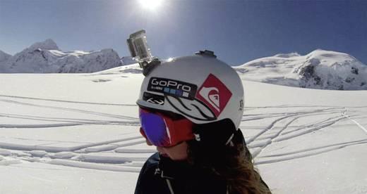 GoPro Gebogen + vlakke kleefbevestigingen AACFT-001 Kleefpads Geschikt voor: GoPro