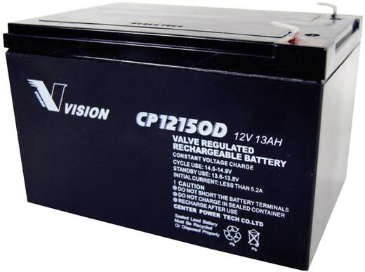 Loodaccu 12 V 13 Ah Vision Akkus CP12150D Loodvlies (AGM)