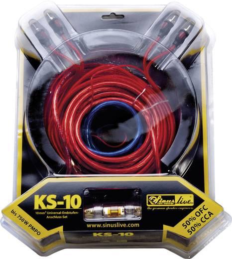 Sinuslive Car-HiFi versterker aansluitset 10 mm² KS-10