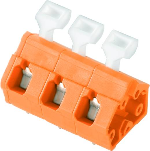 Veerkachtklemblok 2.50 mm² Aantal polen 4 LMZFL 7/4/135 3.5OR Weidmüller Oranje 100 stuks