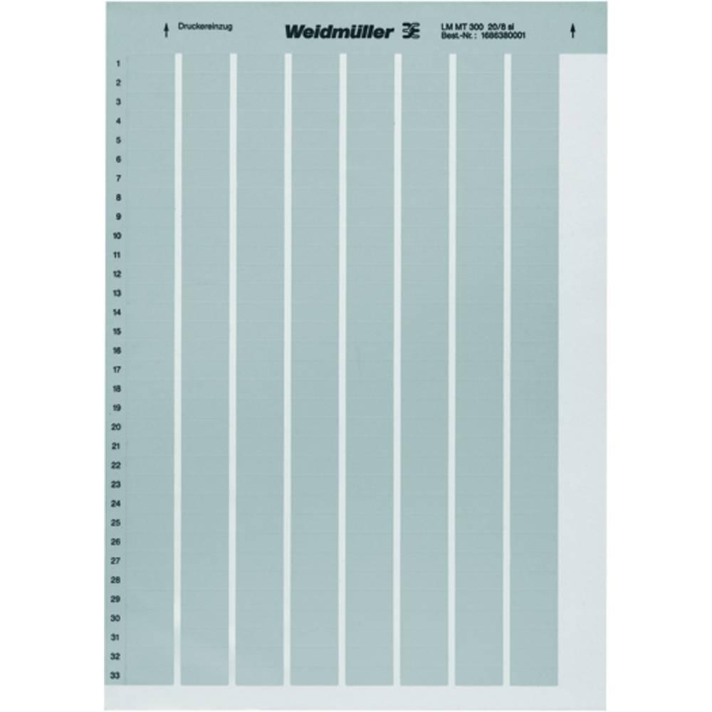 Weidmüller 1975160000 LM MT300 105X105 SI Märkningsystem skrivare Monteringsmetod: Limning Utskriftsområde: 105 x 105 mm Silver Antal märkningar: 40 10 st