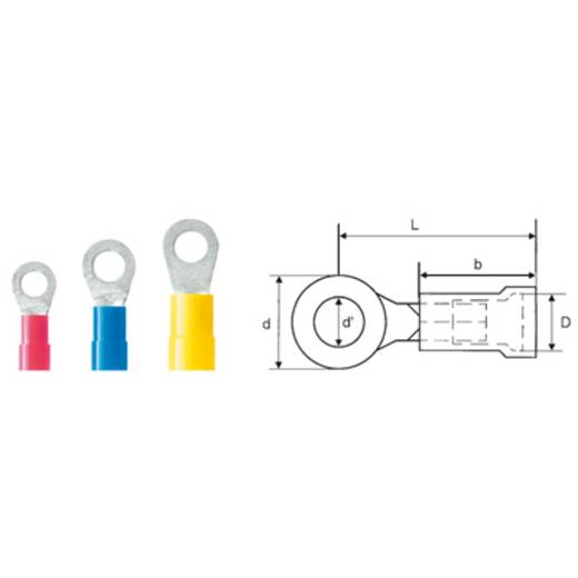 Weidmüller 9200110000 Ringkabelschoen Dwarsdoorsnede (max.): 1.5 mm² Gat diameter: 6.4 mm Deels geïsoleerd Rood 100 stu