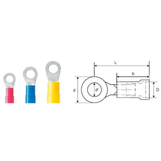 Weidmüller 9200250000 Ringkabelschoen Dwarsdoorsnede (max.): 6 mm² Gat diameter: 6.4 mm Deels geïsoleerd Geel 100 stuks