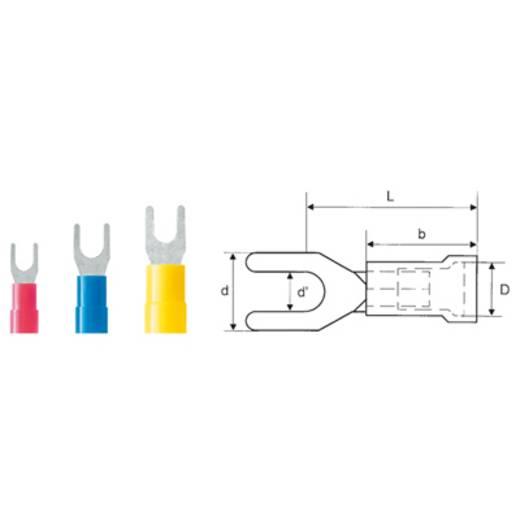Weidmüller 9200440000 Vorkkabelschoen 4 mm² 6 mm² Gat diameter=8.4 mm Deels geïsoleerd Geel 100 stuks