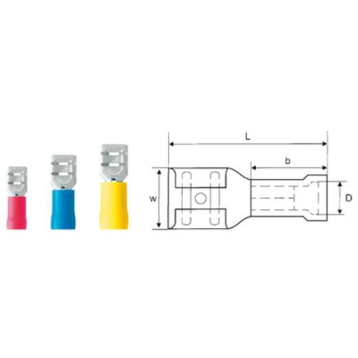 Weidmüller LIF 2,5F638 R Vlakstekker Insteekbreedte: 6.3 mm Insteekdikte: 0.8 mm 180 ° Deels geïsoleerd Blauw 100 stuks