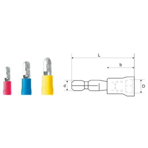 Weidmüller Deksel 1,5M4 R Geïsoleerde ronde connector Inhoud: 100 stuks