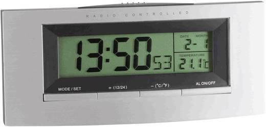 Wekker Zendergestuurd Zilver, Zwart TFA 98.1030