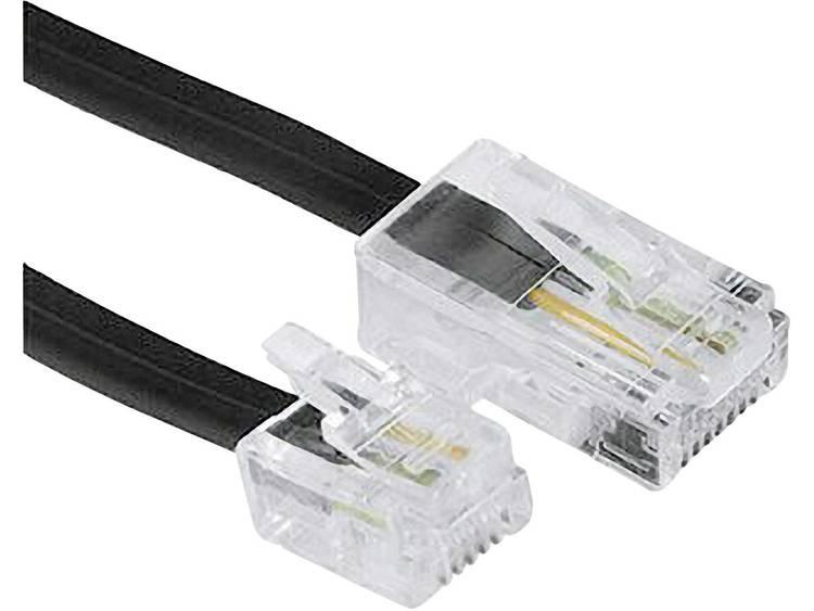 ISDN Kabel [1x RJ45-stekker 8p4c - 1x RJ-stekker 6p4c] 3 m Zwart Hama