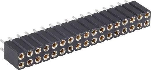 Female header (precisie) Aantal rijen: 2 Aantal polen per rij: 13 BKL Electronic 10120811 1 stuks