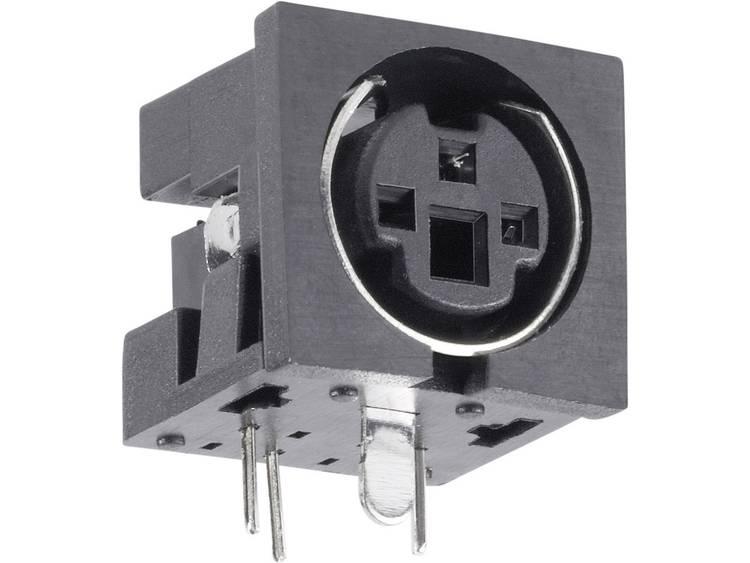 Miniatuur-DIN-connector Bus, inbouw horizontaal Aantal polen: 6 Zwart BKL Electronic 0204051 1 stuks