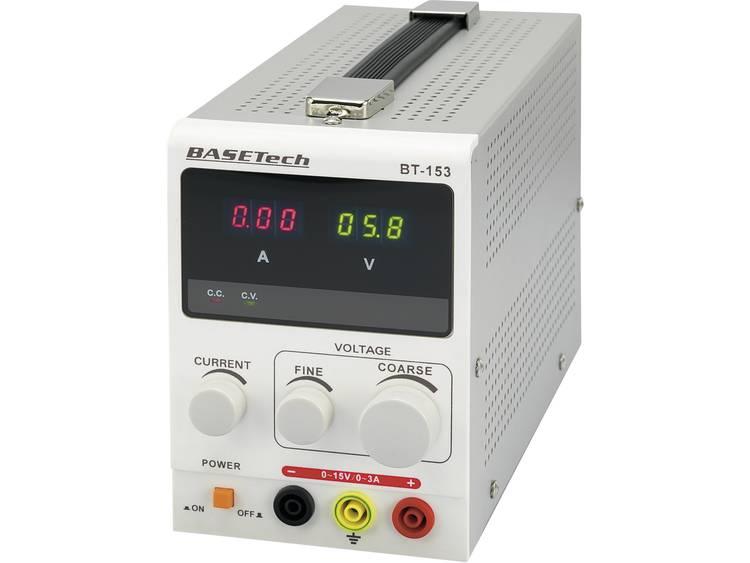 Basetech BT 153 Labvoeding regelbaar 0 15 V DC 0 3 A 45 W Aantal uitgangen