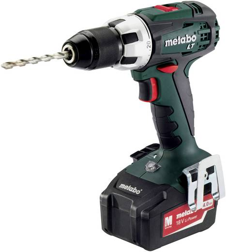 Accuboormachine Metabo BS 18 LT incl. 2 accu's, incl. koffer 18 V 4 Ah Li-ion