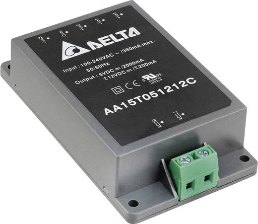 Delta Electronics AA15D0512C AC/DC inbouwnetvoeding gesloten 5 V 1.5 A 15 W