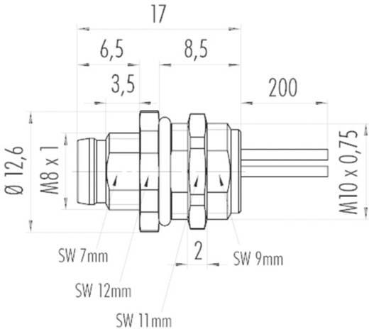 Binder 09 3419 00 03 M8 flensstekker met draad Aantal polen: 3 Inhoud: 1 stuks