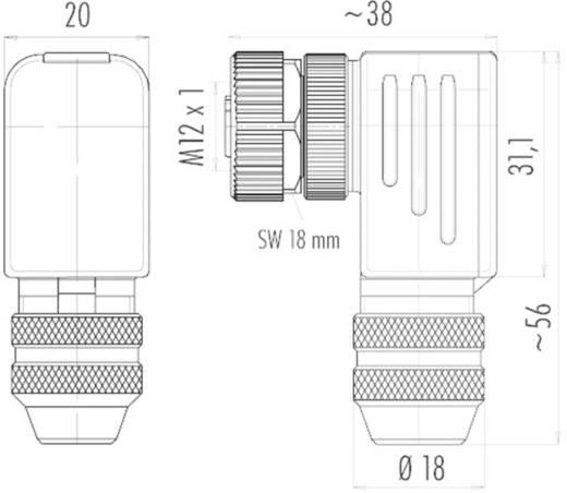 Binder 99 1492 822 12 M12 kabelconnector Aantal polen: 12 Inhoud: 1 stuks