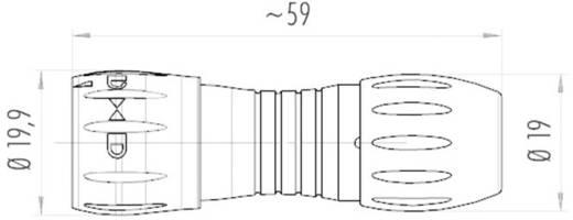 NCC-connector IP67 met bajonetvergrendeling Binder 99-0771-002-08 IP67 Aantal polen: 8