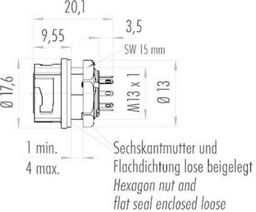 NCC-connector IP67 met bajonetvergrendeling Binder 09-0774-000-08 IP67 Aantal polen: 8