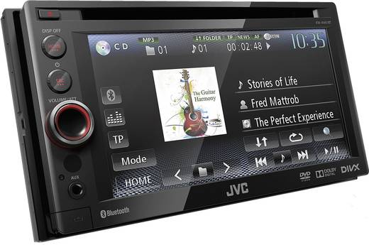 JVC KD-AV61E Autoradio met scherm dubbel DIN 4 x 50 W Jackplug, USB, Bluetooth