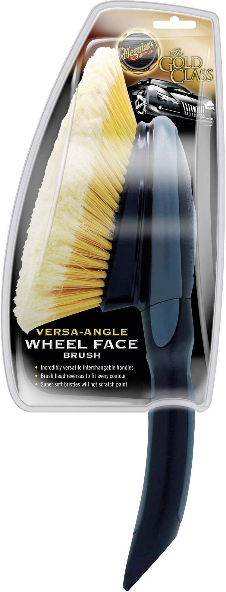 Image of Meguiars X1025 Versa Angle Wheel Face Brush velgborstel 1 stuks