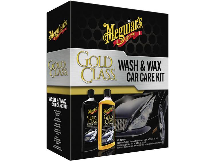 Auto behandelingset 1 set Meguiars Gold Class Wash Wax Car Care Kit G9966