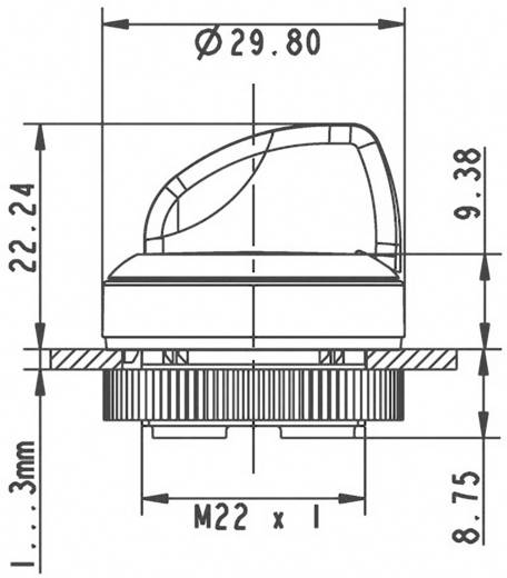 RAFI RAFIX 22 FS+ 1.30.272.102/2200 Keuzetoets Zwart 1 x 90 ° 1 stuks
