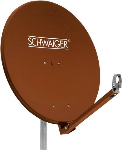 Schwaiger SPI710.2 Satellietschotel 75 cm Reflectormateriaal: Aluminium Steenrood