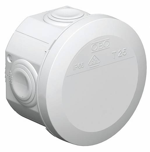 OBO Bettermann zonder klemmen Aftakdoos T25 80 x 51 mm lichtgrijs 2007029 Lichtgrijs (RAL 7035)